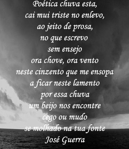 Poética chuva esta...